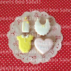 ベビーシャワーのアイシングクッキー | sweets box Salut!