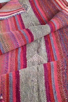 Pink Stripe Peruvian Frazada