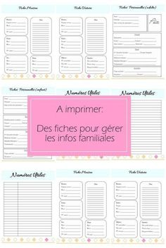 Free Printable Kit Home Binder (In Spanish)// Kit de fiches organisation a imprimer info perso Diy Organisation, Organization Bullet Journal, Planner Organization, Flylady, Family Command Center, Home Binder, Home Management Binder, Burn Out, Bullet Journal Inspiration
