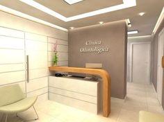 Snotty Dental Office To Get Dental Reception, Small Reception Desk, Reception Desk Design, Dental Office Decor, Medical Office Design, Clinic Interior Design, Clinic Design, Corporate Office Design, Cabinet Medical