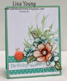 Add Ink and Stamp: SU! Fabulous Florets - beautiful card!