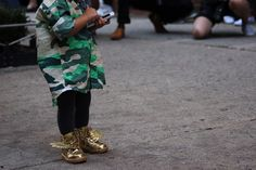 On the street roundup: the most fire sneaker looks from New York Fashion Week.