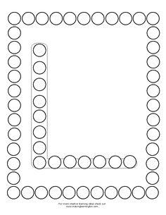 DotMini-L Nursery Activities, Alphabet Activities, Preschool Activities, Alphabet Tracing Worksheets, Tracing Letters, Early Childhood Activities, Do A Dot, Stem Science, Beginning Of School