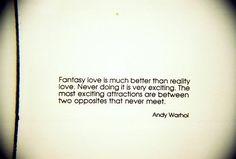Fantasy love-Andy Warhol