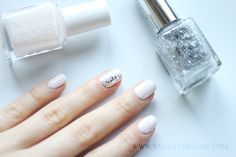 "vanillebrause: Essie ""Fiji"" with sparkling highlights, nailart, nail inspiration"