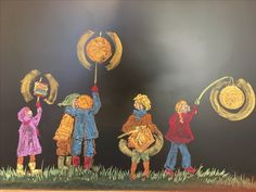 Waldorf Lantern Walk- chalk drawings