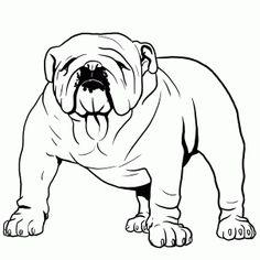 Coloring Pages Of A Bulldog. Bulldogs coloring pages For printing. Coloring pages bulldogs. Bulldog Puppy coloring page: coloring book and pictures, templates Bulldog coloring pag. Cute Bulldog Puppies, Cute Bulldogs, Puppy Coloring Pages, Coloring Pages For Kids, Kids Colouring, Coloring Books, Bulldog Drawing, Bulldog Mascot, Tatuajes