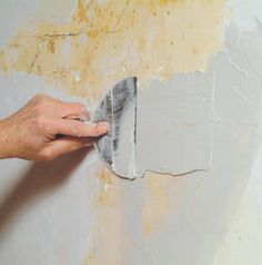 how to repair a large crack in plaster plaster walls tutorials and walls. Black Bedroom Furniture Sets. Home Design Ideas