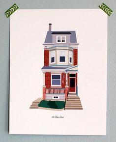 Custom House Illustration / by HouseLoveShop