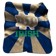Logo Brand Notre Dame Fighting Irish Raschel Throw Blanket, Multicolor