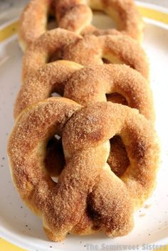 Copycat Auntie Anne's Cinnamon Sugar Soft Pretzel. If your a lover of cinnamon & sugar toast, elephant ears, churros or basically anything covered in cinnamon & sugar then this recipe is for you!