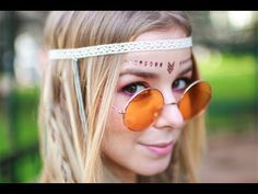 Hippie Hair & Makeup Tutorial - SÉRIE CARNAVAL   Alice - Golden Locks