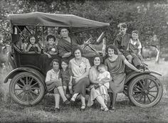 From somewhere in the Northeast circa 1920 comes this 5x7 glass negative, saved from the landfill thanks to an estate sale. Presumably these folks have moved on by now, having had what we hope was a pleasant journey.  Shorpy Historic Picture Archive
