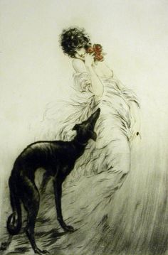 Louis Icart (French, 1880 - 1950) - Favorite Scent