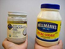 coconut oil and mayonnaise