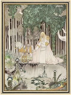"Kay Nielsen was a Danish illustrator, popular in the early century, the ""golden age of illustration"". Kay Nielsen, Old Illustrations, Children's Book Illustration, Botanical Illustration, Storyboard Illustrations, Fairy Tale Illustrations, Digital Illustration, Arthur Rackham, Alphonse Mucha"