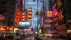 Nathan Road neon in Hong Kong (photograph by Joop, via Flickr)