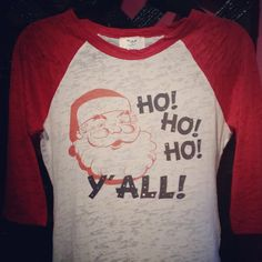 christmas shirt santa tee vintage santa shirt by Rocknmamadesigns Vintage Santas, Christmas Shirts, Vintage Tees, Workout Shirts, Super Cute, Holidays, Rock, Guys, Fabric