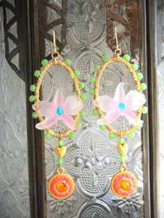French Vintage Flower Parts Earrings by OstaraTokyo on Etsy, $56.00