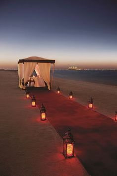 A Fine Romance - Share a gazebo beach dinner at Jumeirah with someone special.