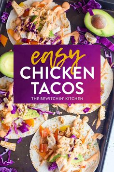 These easy chicken tacos are so darn simple and SO GOOD! You can either cook up some marinated chicken or use leftovers with this healthy budget chicken dinner. Use grilled chicken or shredded from the Instant Pot or Slow Cooker/Crockpot! Buffalo Chicken Tacos, Grilled Chicken Tacos, Shredded Chicken Tacos, Marinated Chicken, Southwest Chicken, Instant Pot, Easy Dinner Recipes, Easy Meals, Slow Cooker