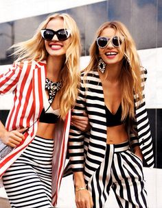 shop runway trends for less than $100, including bold stripes!