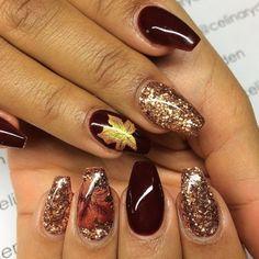 Short Coffin nails, nail art for fall Nail Design Spring, Fall Nail Art Designs, Halloween Nail Designs, Pretty Nail Designs, Halloween Nails, Coffin Nails, Gel Nails, Acrylic Nails, Manicures