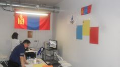 The Mongolian NOC office after two days of decorating...