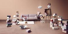 Madison sofa designed by Danish duo Glismand & Rüdiger. Vilfred workdesk by Kristina Kjær.