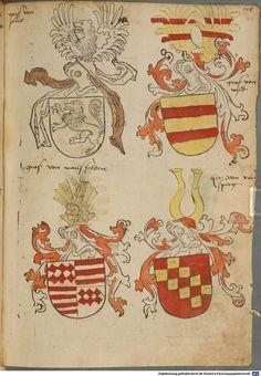 Tirol, Anton: Wappenbuch Süddeutschland, Ende 15. Jh. - 1540 Cod.icon. 310  Folio 91r