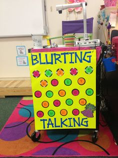 I love using a blurt chart to keep track of the minor behavior problems like talking out, out of seat, ect...   I use little mouths that Velcro to the chart. After four mouths they face a consequence!   Terrific Third Grade : Two Classes - One Classroom
