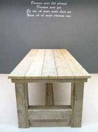 NIEUW Kloostertafel van steigerhout (oud steigerhout) (252013KLTO) http://www.jorg-steigerhout.nl/c-1395210/tafels-van-steigerhout/