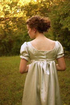 Regency Dress Reenactment Costume and Formal by garlandofgrace, $149.99