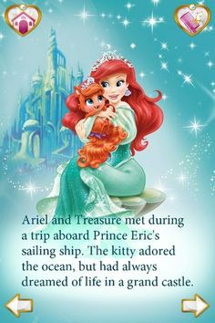 Princess Palace Pets - Ariel and Treasure - disney-princess Photo. Yup, pretty much my kitty and I... Lol