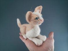 MOLLY  Kitten  Dry felting  Нand made  by KNartDesign on Etsy