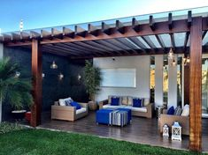 Pergola For Small Backyard Rustic Pergola, Wood Pergola, Modern Pergola, Outdoor Pergola, Pergola Shade, Pergola Plans, Outdoor Rooms, Outdoor Fire, Pergola Kits