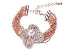 Golden Flower Pearl Bracelet. | timelesspearl.com