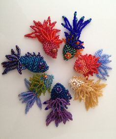 PDF Tutorial Fancy Fish Beadwoven Friends by SkunkHillStudio, $18.00
