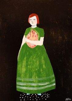 she clutched her destiny close to her heart by amanda blake art, via Flickr