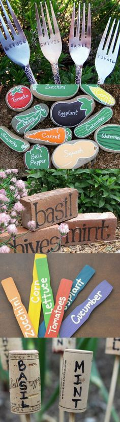 Keep your garden organized! Here are 10 creative ideas for DIY veggie garden markers.