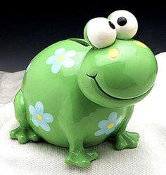 Green Frog Piggy Bank
