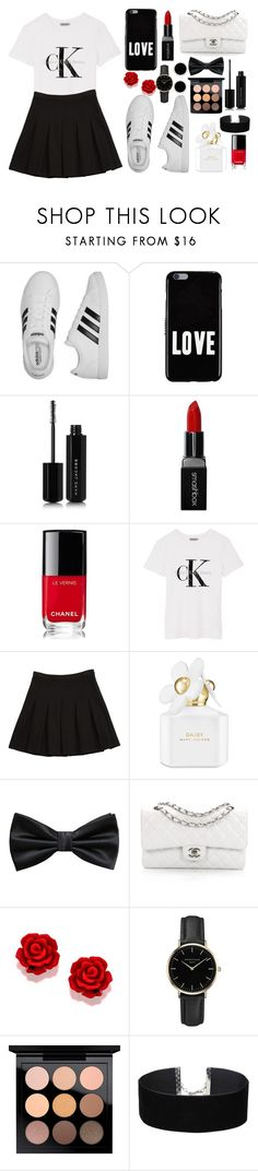 """The Red Brings Out The Black ♥︎"" by mylifeasabeautifuldisaster ❤ liked on Polyvore featuring adidas, Givenchy, Marc Jacobs, Smashbox, Chanel, Calvin Klein, Diane Von Furstenberg, MANGO, ROSEFIELD and MAC Cosmetics"