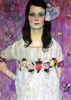 Mada Primavesi, 1912. Gustav Klimt.              I absolutely love the eyes of this 9 years old girl