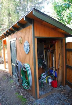 shed with critter proof foundation, diy, how to, outdoor living, storage ideas, woodworking projects, The shed is 16 feet long and 4 5 feet wide