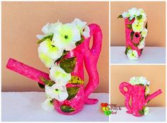 Handmade vase by Yamy Morrell #paperclay #paperart #decoration