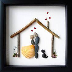 Regalo di nozze unico  su misura regalo  ghiaia arte  unico