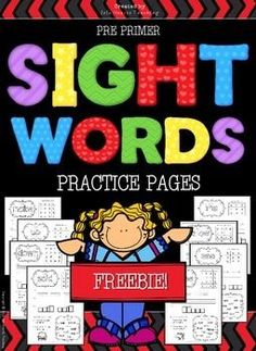 Want fun PRINT AND GO Sight Words practice pages for your students without the hassle of cutting and pasting? Try this FREEBIE!