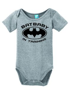 Batbaby In Training funny baby onesies are bring smile to everyone. soft cotton babies onesie body suit baby romper w/ snap closures