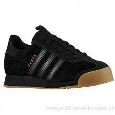 Kinder - adidas Originals Samoa Grade School Sportschuhe Schwarz/Bright Rot/Schwarz - Schuhe Größe:28,29,30,31,32,33,34,35