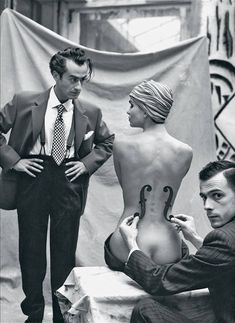 Mark Arbeit, Man Ray and his model, 1930's